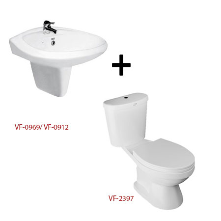 Bồn cầu American + chậu rửa lavabo – Gói W13 (Combo American)