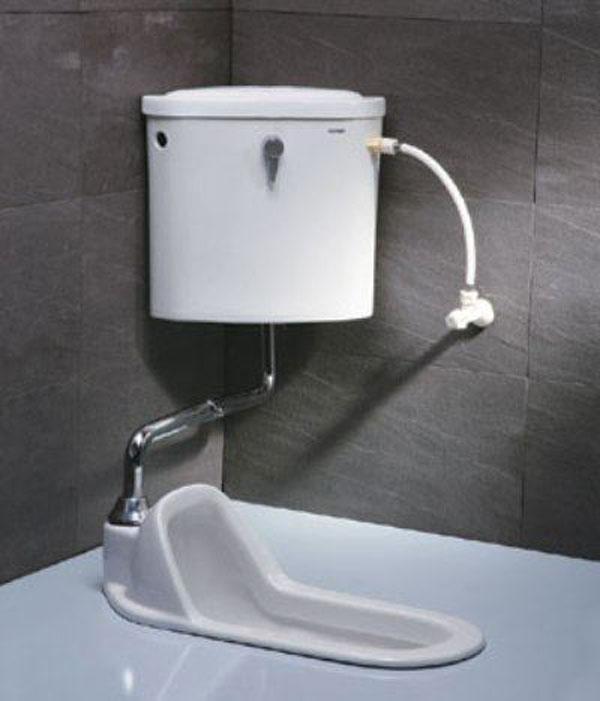 Xí xổm két nước treo tường Caesar CT1250