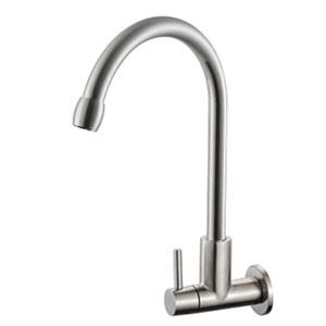 Vòi rửa bát nước lạnh tường Bancoot inox DT304