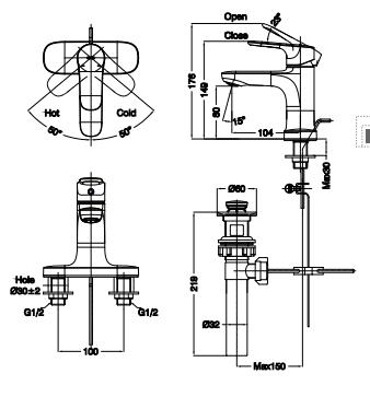 Vòi rửa lavabo Inax mới LFV-1401S