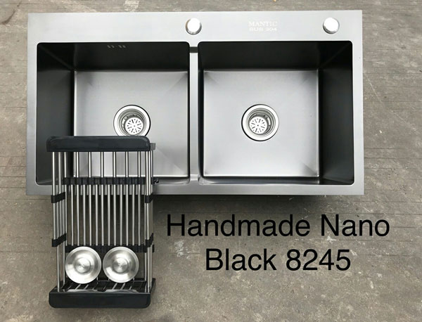 Chậu rửa bát giá rẻ Handmade Nano Sliver TP-8245N