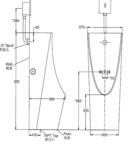 Bồn tiểu nam cảm ứng K-5888T-C05-0