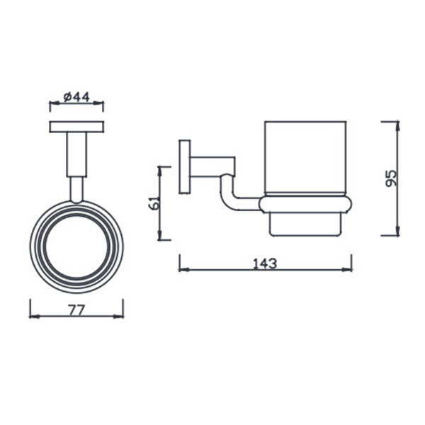Kệ cốc bàn chải American Standard K-2801-44-N