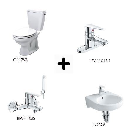 Bộ sản phẩm phòng tắm Inax Combo 1171246