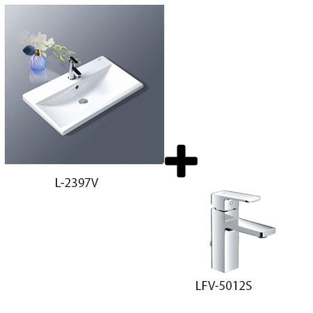Chậu lavabo kèm vòi rửa Inax L-2397V + LFV-5012S