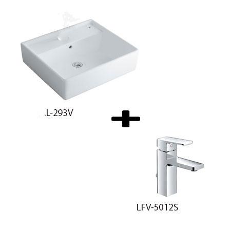 Chậu lavabo kèm vòi rửa Inax L-293V+LFV-5012S