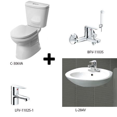Bộ sản phẩm phòng tắm Inax Combo 3061256