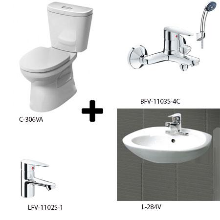 Bộ sản phẩm phòng tắm Inax Combo 3061257