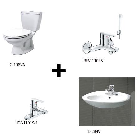 Bộ sản phẩm phòng tắm Inax Combo 1081346