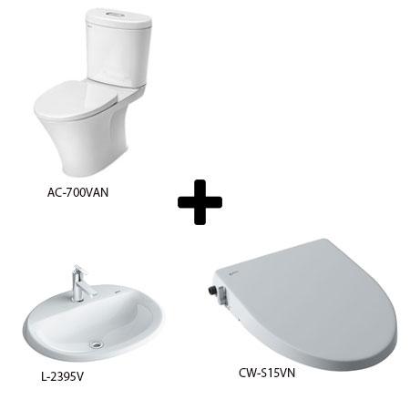 Bộ sản phẩm phòng tắm Inax 700126