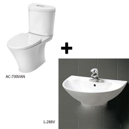 Bồn cầu Inax AC-700VAN kèm chậu lavabo L-288V