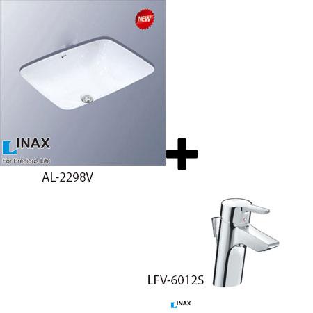 Chậu lavabo kèm vòi rửa Inax AL-2298V+LFV-6012S