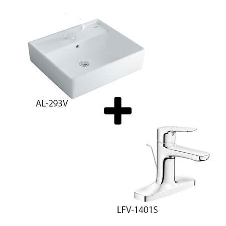 Chậu lavabo kèm vòi rửa Inax AL-293V+LFV-1401S