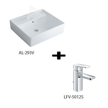Chậu lavbo kèm vòi rửa Inax AL-293V+LFV-5012S