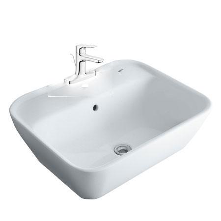 Chậu lavabo kèm vòi rửa Inax AL-296+LFV-1401S