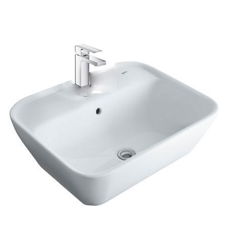 Chậu lavabo kèm vòi rửa Inax AL-296V+LFV-402S