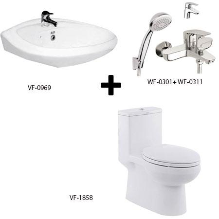 Bộ sản phẩm phòng tắm American Gói C10