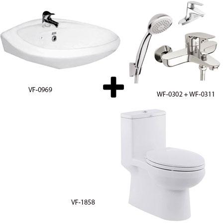 Bộ sản phẩm phòng tắm American Gói C11