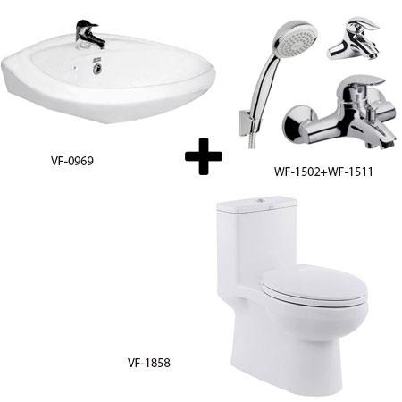 Bồn cầu American + bộ sản phẩm phòng tắm Gói C13 (Combo American)