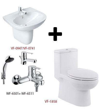 Bồn cầu American + bộ sản phẩm phòng tắm Gói C16 (Combo American)