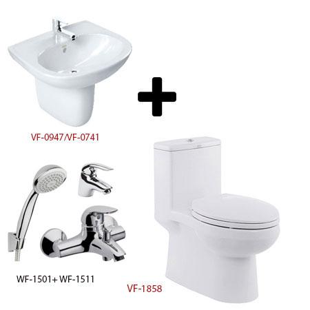 Bộ sản phẩm phòng tắm American Gói C18