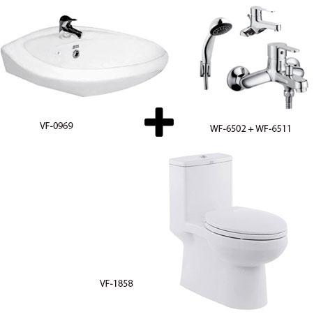 Bồn cầu American kèm bộ sản phẩm phòng tắm Gói C9 (Combo American)