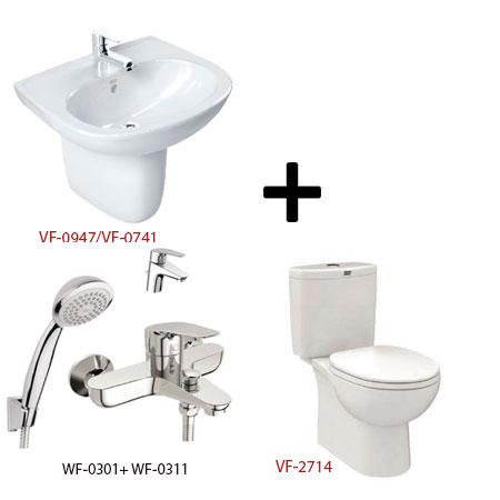 Bộ sản phẩm phòng tắm American (Gói D4-Mùa Đông)