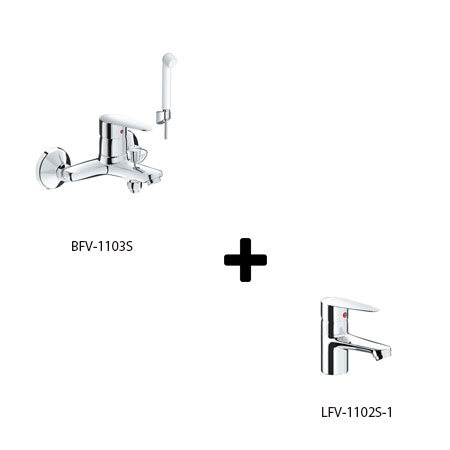 Sen tắm kèm vòi rửa Inax LFV-1102S-1+BFV-1103S