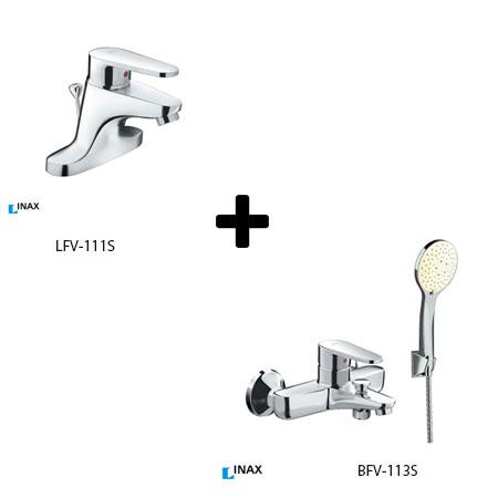 Sen tắm kèm vòi rửa lavabo Inax LFV-111S+BFV-113S