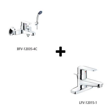 Sen tắm kèm vòi rửa Inax LFV-1201S-1+BFV-1203S-4C
