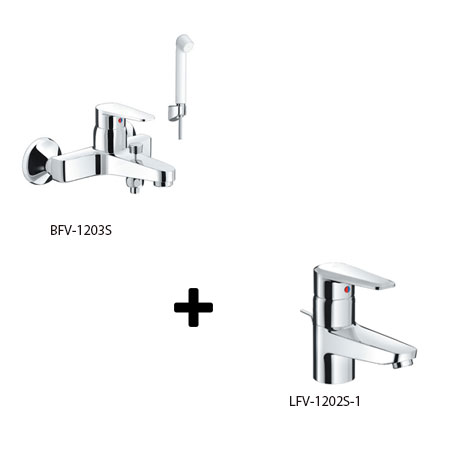 Sen tắm kèm vòi rửa Inax LFV-1202S-1+BFV-1203S