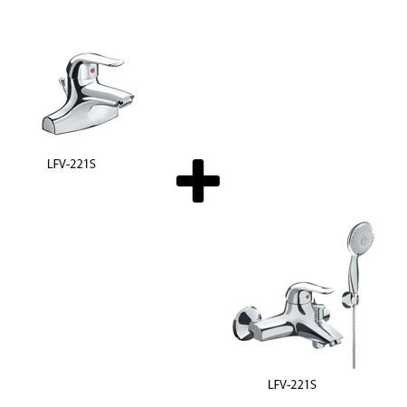 Sen tắm kèm vòi rửa lavabo Inax LFV-221S+BFV-223S