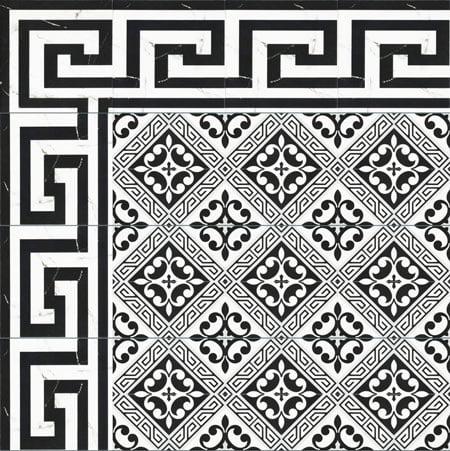 Gạch bông Thanh Xoan 20×20 22050 Viền – Góc