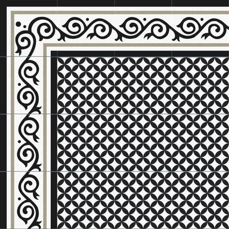 Gạch bông Thanh Xoan 20×20 22053 VIỀN – GÓC