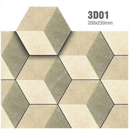 Gạch lục giác 20X23 3D01