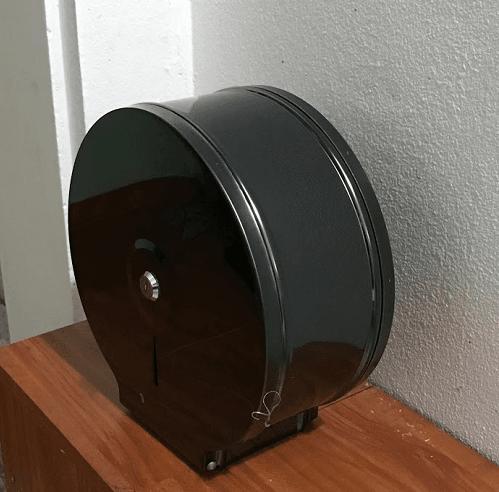Hộp giấy vệ sinh inox mạ màu đen cuộn lớn Ygao B723