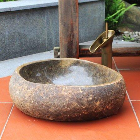 Chậu rửa lavabo đá tự nhiên SafeVN LDTN 002