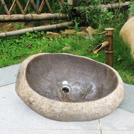 Chậu rửa lavabo đá tự nhiên SafeVN LDTN 006
