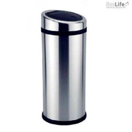 Thùng rác inox nắp nhựa chéo Ecolife ECO112