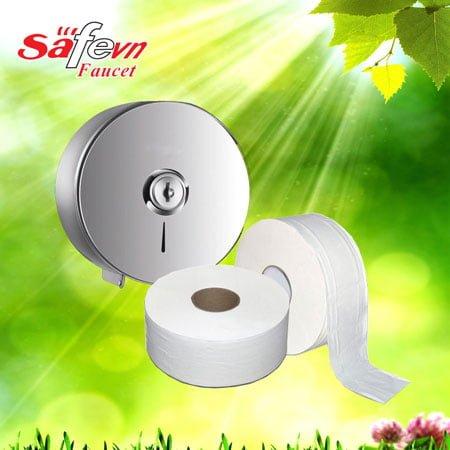 Giấy vệ sinh cuộn lớn công nghiệp SafeVN