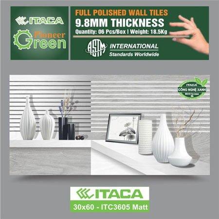 Gạch ốp tường ITACA 30×60 ITC3605 Matt