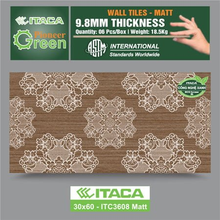 Gạch ốp tường ITACA 30×60 ITC3608 Matt