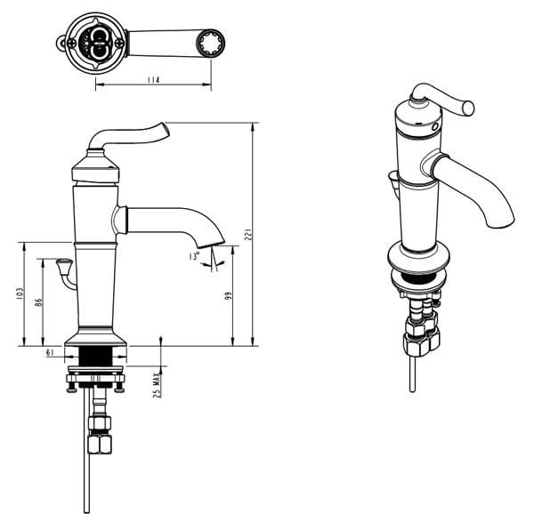 Vòi rửa lavabo nóng lạnh Moen V16121