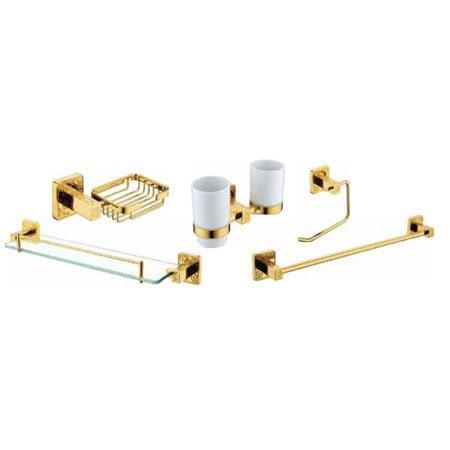 Bộ phụ kiện phòng tắm HCG mạ vàng