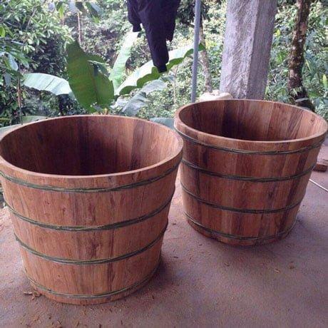 Bồn tắm gỗ Ngọc Am 02 (đặt theo yêu cầu)