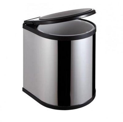 Thùng rác inox tủ bếp nắp xoay Ecolife ECO B02