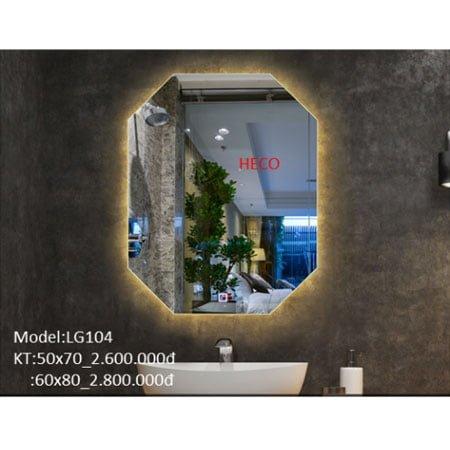 Gương sấy cảm ứng đèn Led Heco LG-104