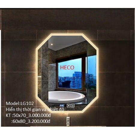 Gương sấy cảm ứng đèn Led Heco LG-102
