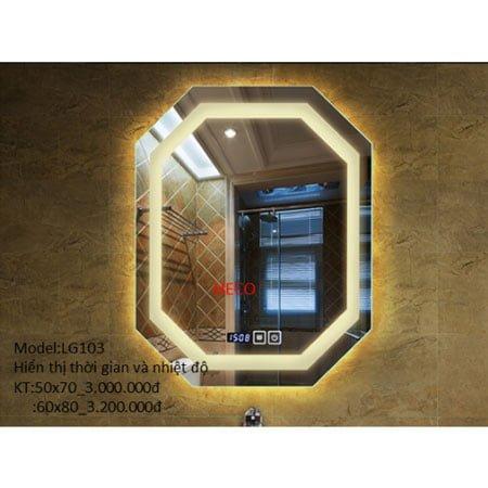 Gương sấy cảm ứng đèn Led Heco LG-103