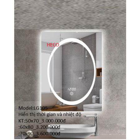 Gương sấy cảm ứng đèn Led Heco LG-105